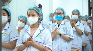 Giờ thực hành của lớp Tập huấn An toàn Y tế